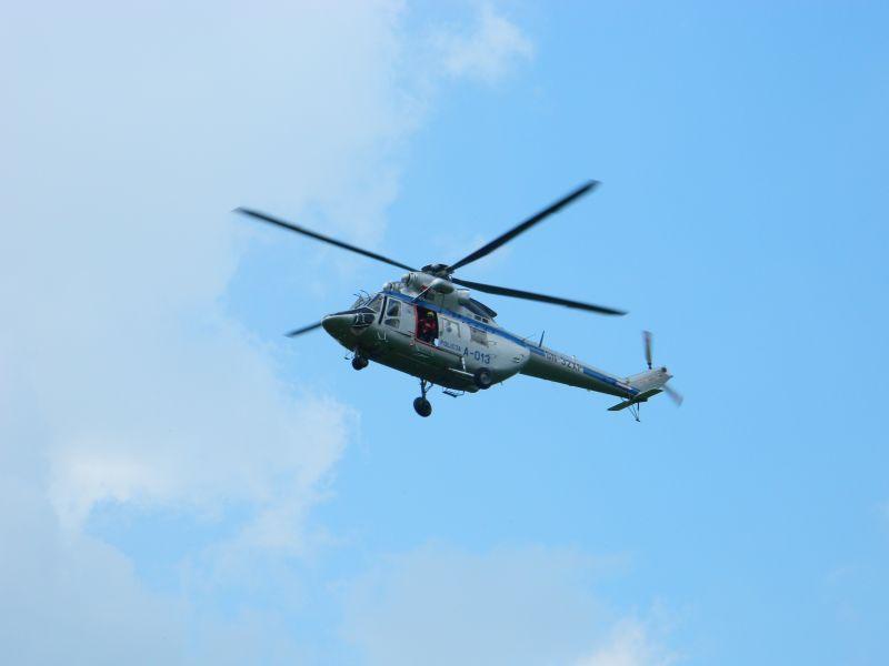 Helikopter przy Kasprowym Wierchu