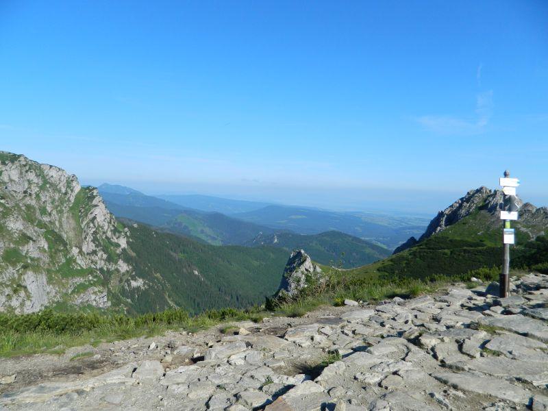 Droga na Kondracką Przełęcz i Kasprowy Wierch