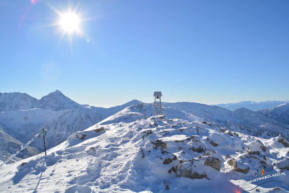 Szczyt Kasprowy Wierch w zimie