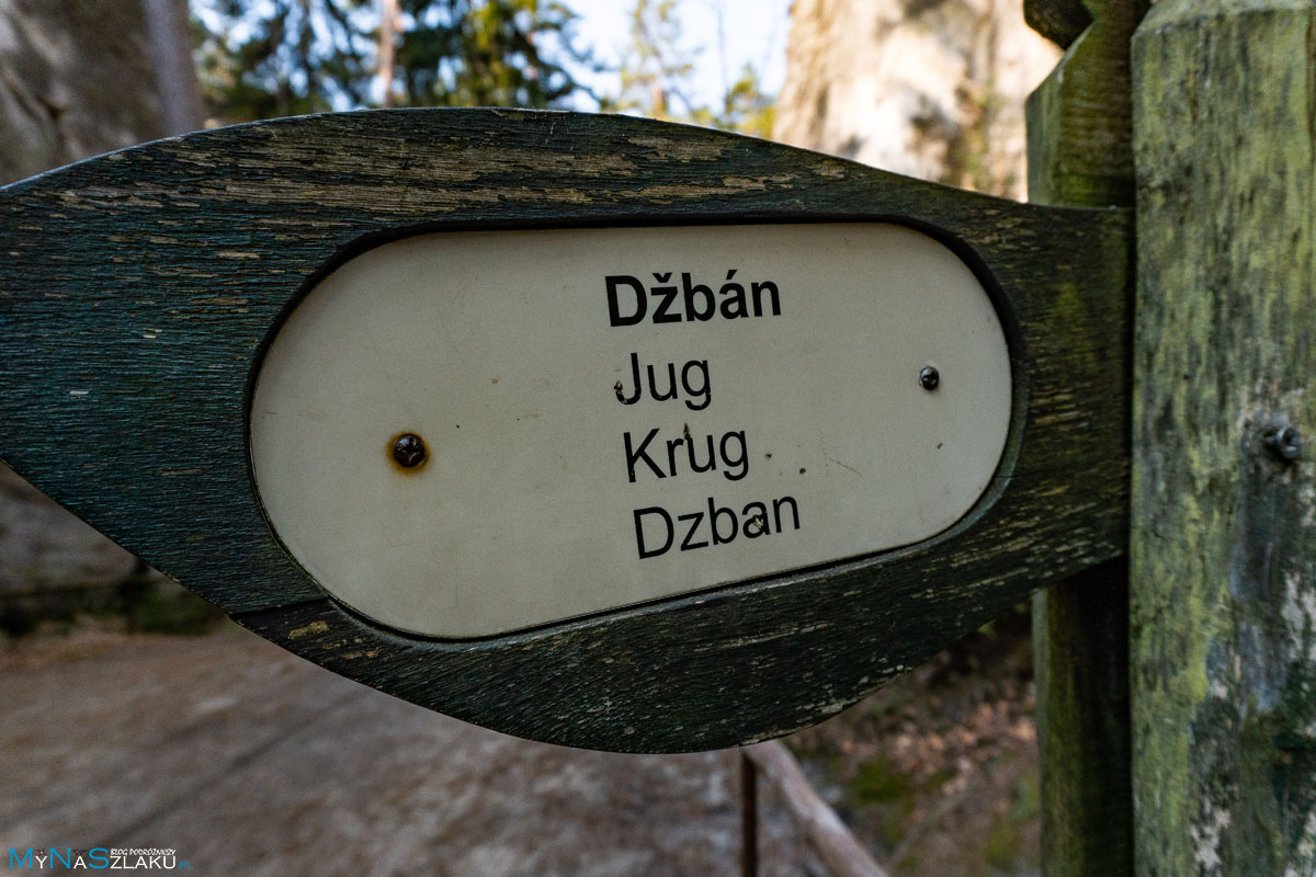Czeskie Skalne miasto w Adrspach