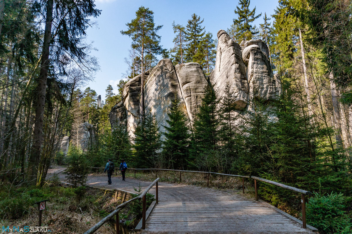 Miasto skalne w Adrspach