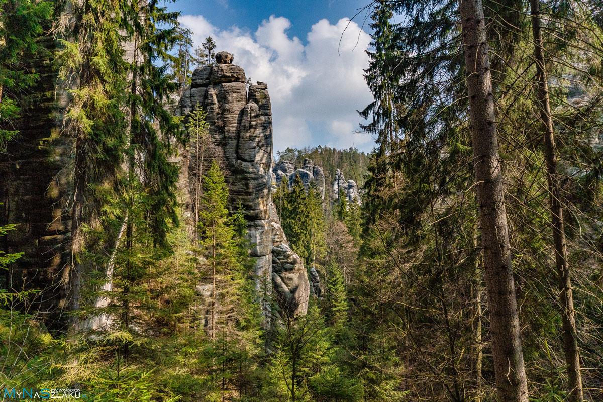 Panorama Adrspach w Czechach