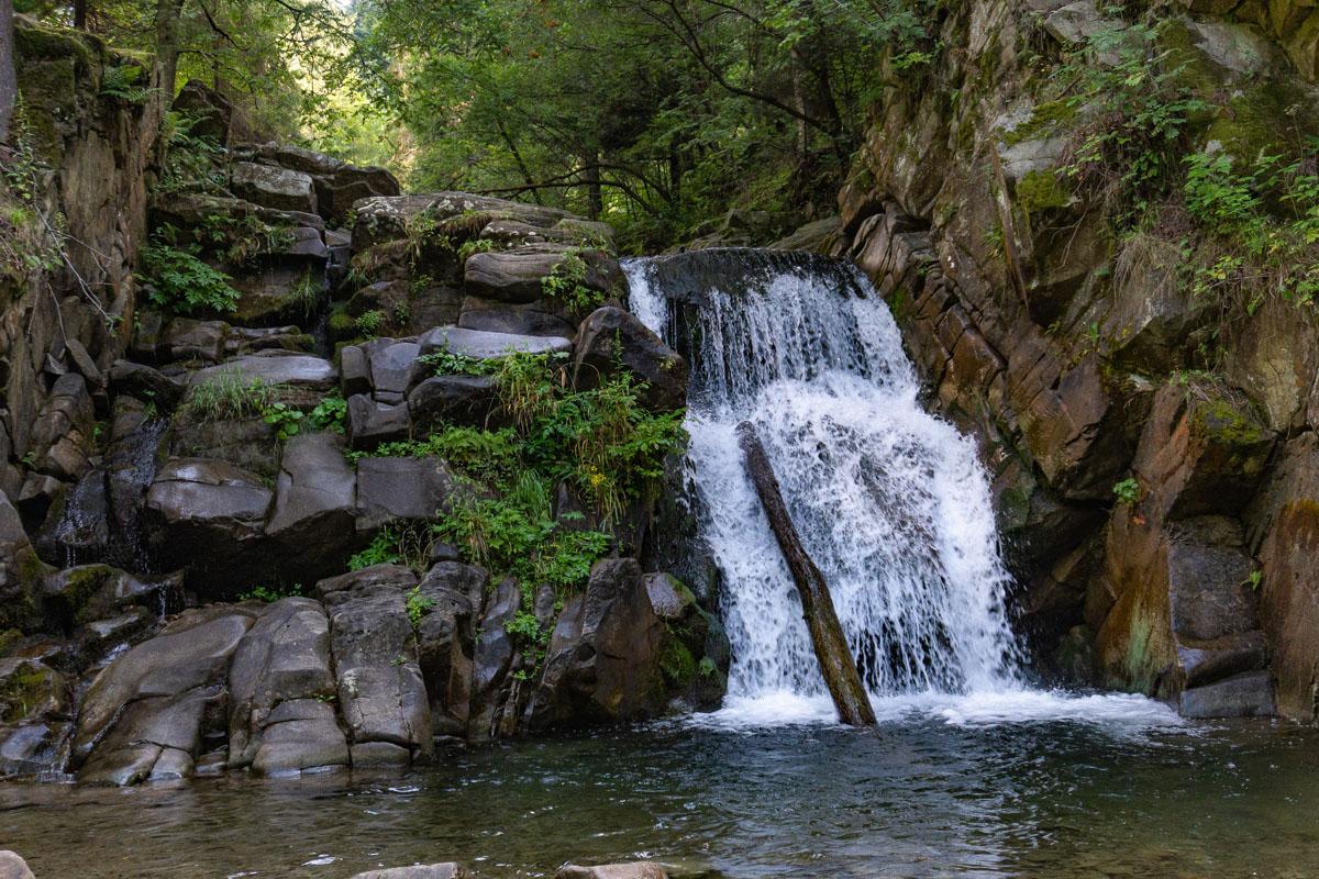 Wodospad Zaskalnik w Szczawnicy
