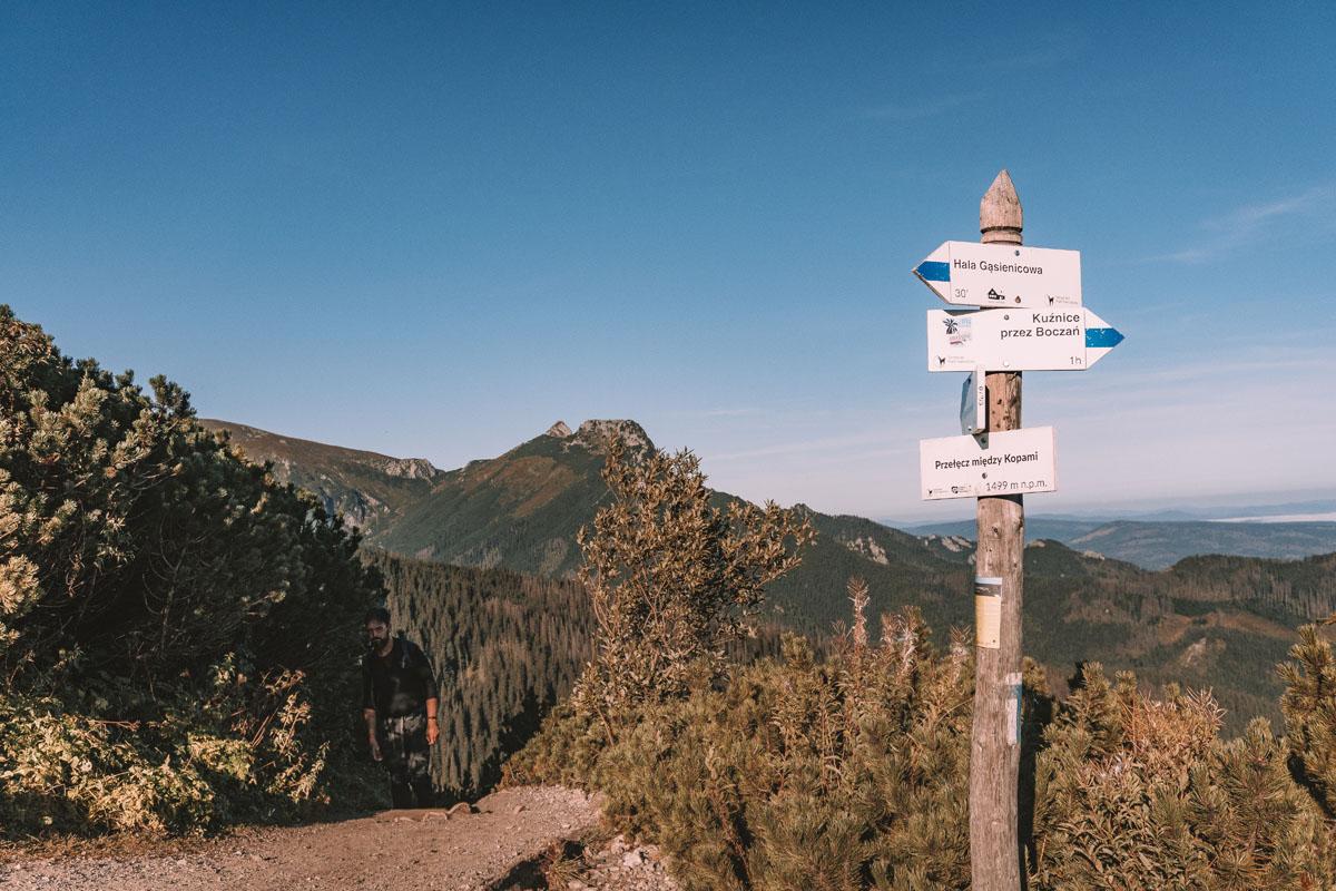 Przełęcz między Kopami (Karczmisko) przy Dolinie Chochołowskiej