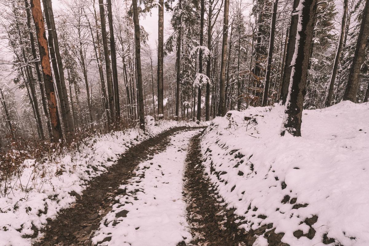Droga na Przełęcz Opaczne