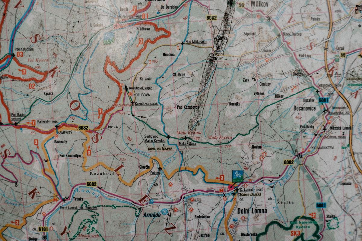 Beskid Śląsko-Morawski - mapa