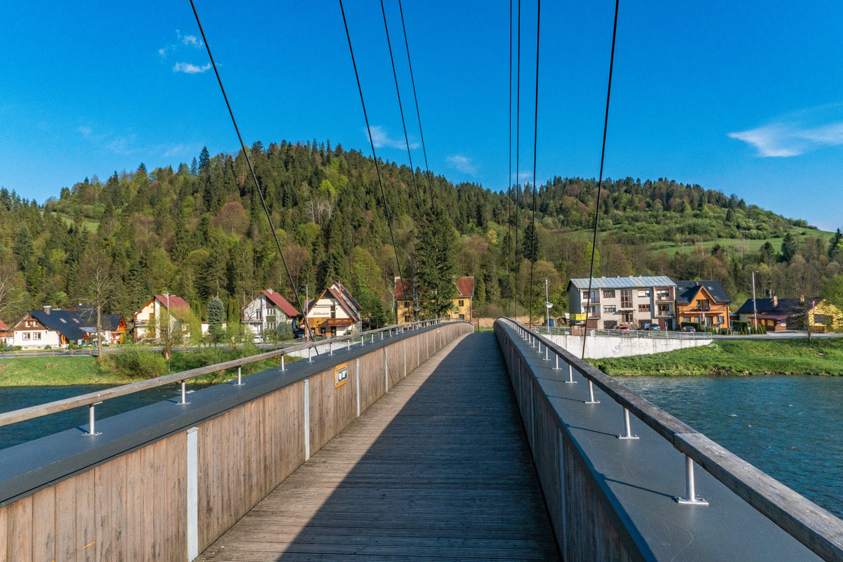 Drewniany most w Sromowcach Niżnych