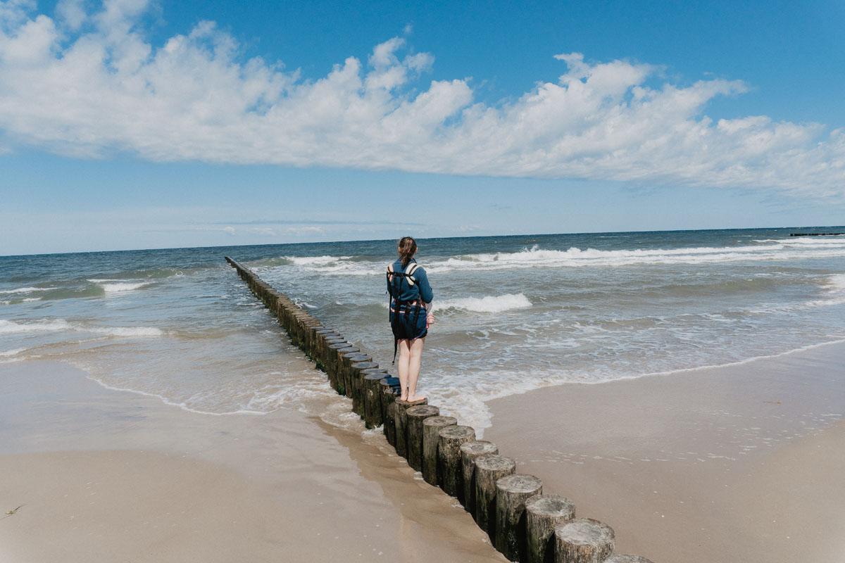Plaża w Trzęsaczu