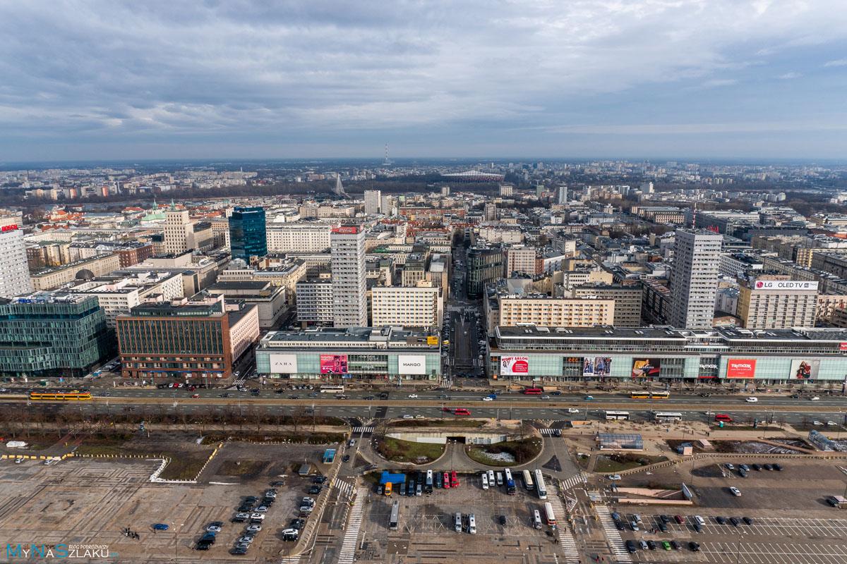 Widok z Pałacu Kultury w Warszawie