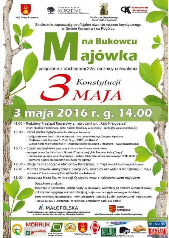 Program Majówki na Bukowcu