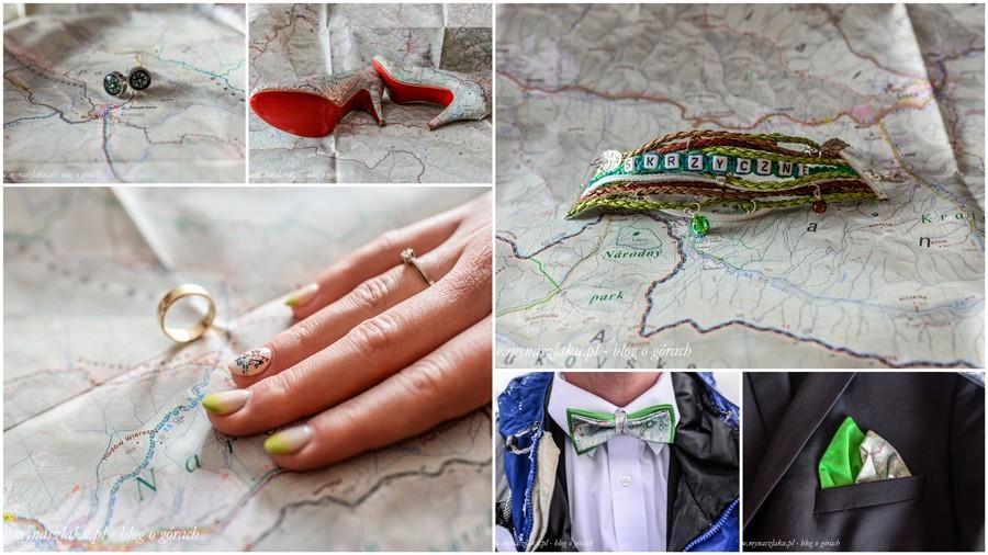 Wyposażenie górskiego maniaka na własny ślub: buty, spinki, mucha, bransoletka