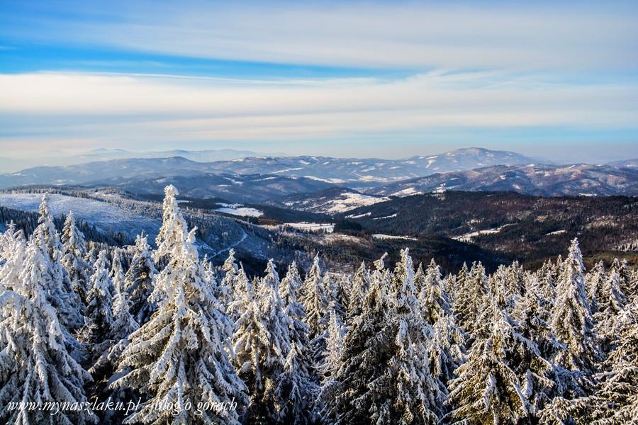 Beskid Śląski: Widzieliśmy Pradziada z Baraniej Góry. 138 kilometrów w linii prostej