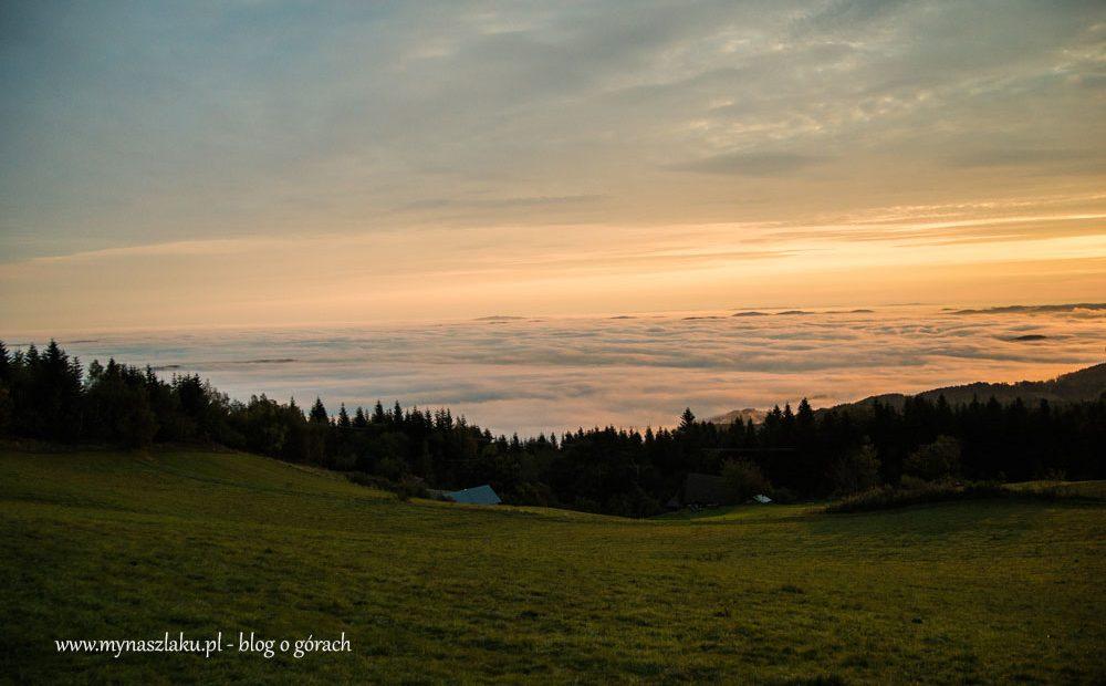 Beskid Wyspowy: W górach inny jest świat, czyli ocean chmur pod Jaworzem
