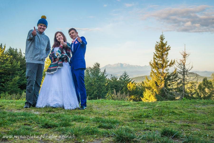 Beskid Sądecki: Wschód słońca i sesja ślubna na Jaworzynie Krynickiej