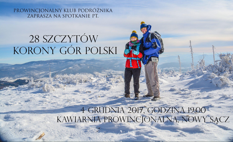 Prowincjonalny Klub Podróżnika #3: 28 szczytów Korony Gór Polski; 4 grudnia o 19:00