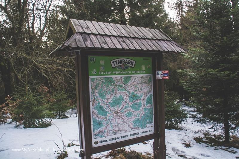 Beskid Wyspowy: Przełęcz Gruszowiec – Śnieżnica w Nowy Rok