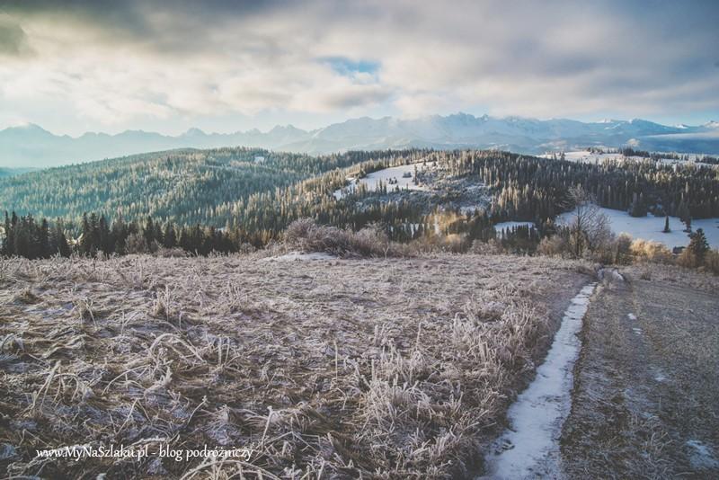 Pogórze Spisko-Gubałowskie: Gliczarów Górny i widok na Tatry
