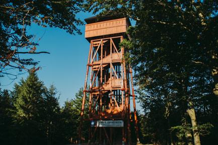 Modyń - szlak do wieży