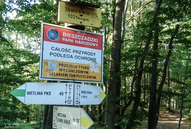 Szlak zielony z Wetliny na Jawornik został zamknięty