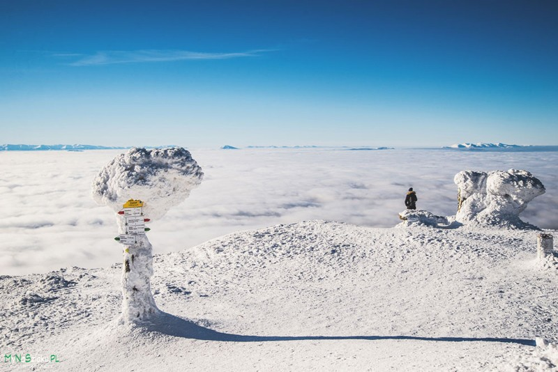 Korona Gór Polski: Przełęcz Krowiarki – Babia Góra w zimie