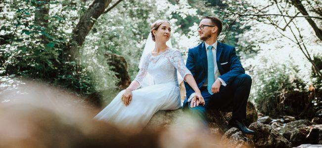 Sesja ślubna w Pieninach. Wąwóz Homole z Asią i Maćkiem