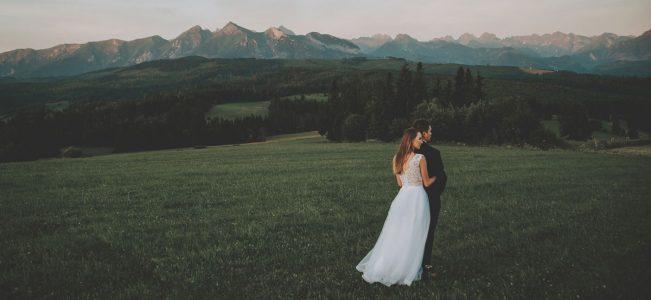 Plener ślubny na Podhalu i wschód słońca na Łapszance