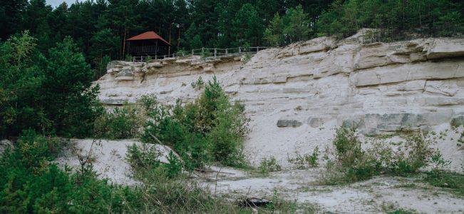Roztocze: Kamieniołom w Nowinach i baszta widokowa