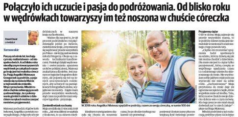 O naszym podróżowaniu z dzieckiem w Gazecie Krakowskiej