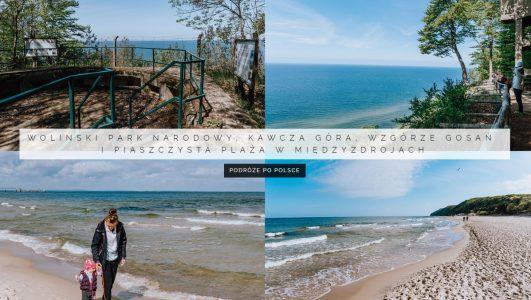 Woliński Park Narodowy, Kawcza Góra, Wzgórze Gosań i piaszczysta plaża w Międzyzdrojach