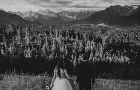 Sesja ślubna w górach na Polanie Głodówka – Edyta i Jarek