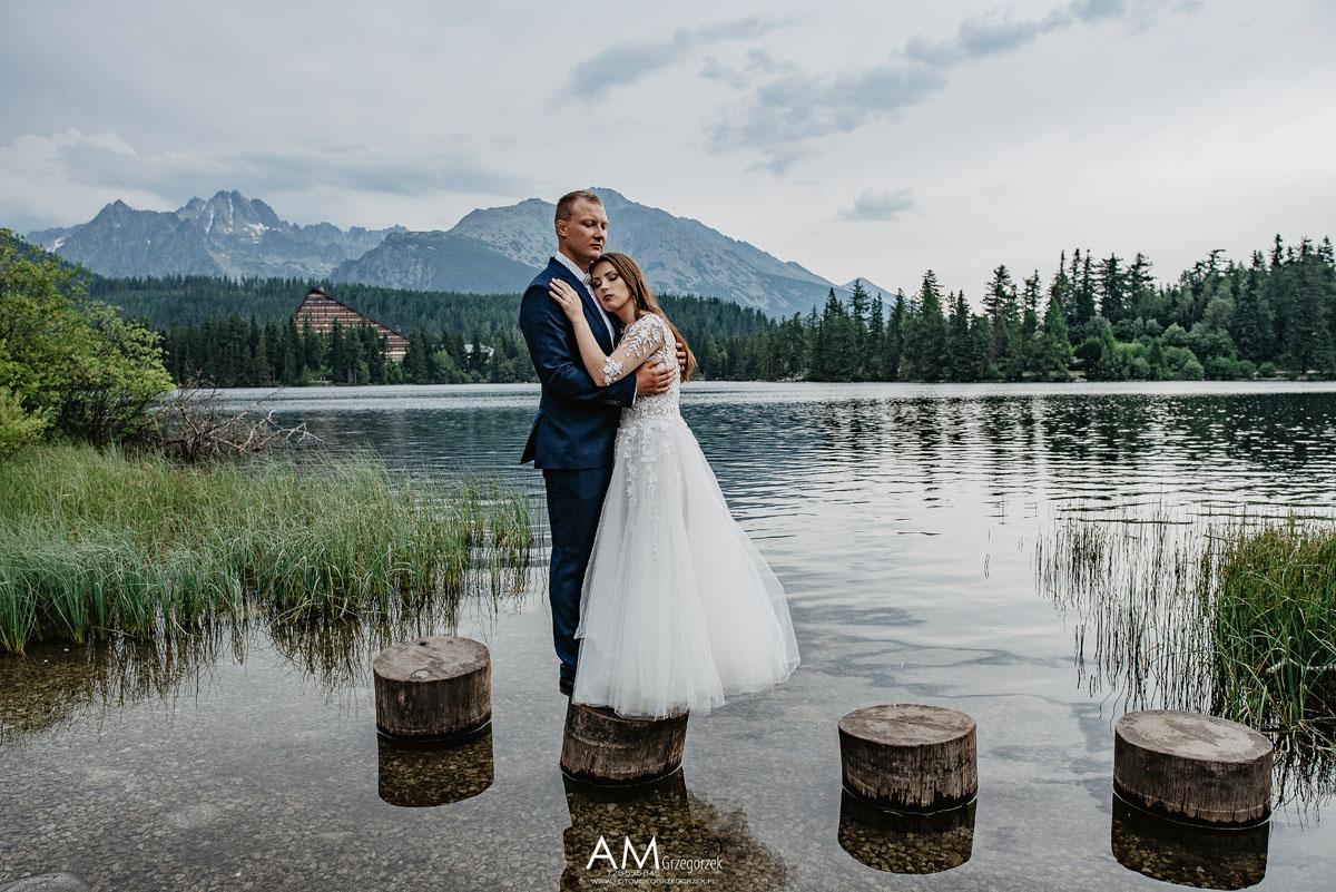 Szczyrbskie Jezioro - plener ślubny