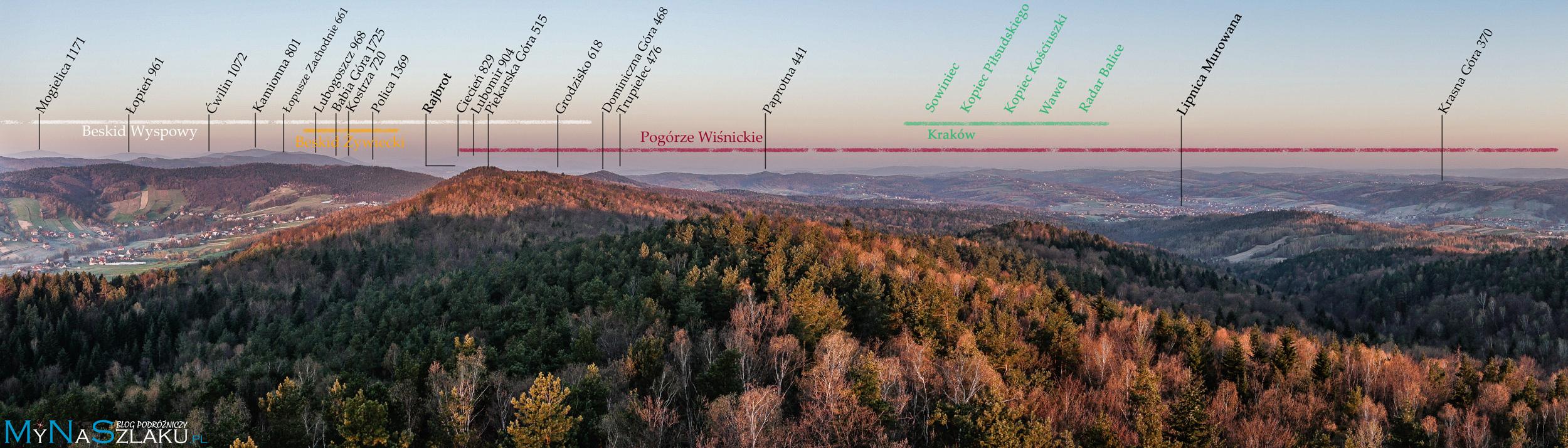 Szpilówka widoki zachód