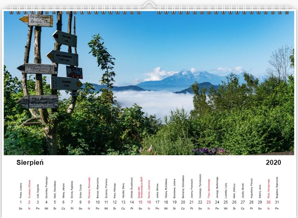 Kalendarz Góromaniaka 2020 - projekt