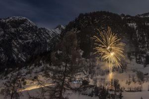 fajerwerki w gorach