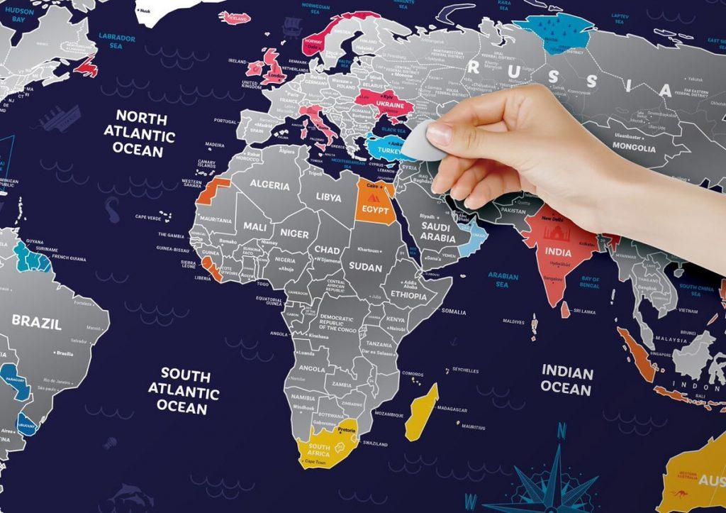 Mapa zdrapka Polski lub świata