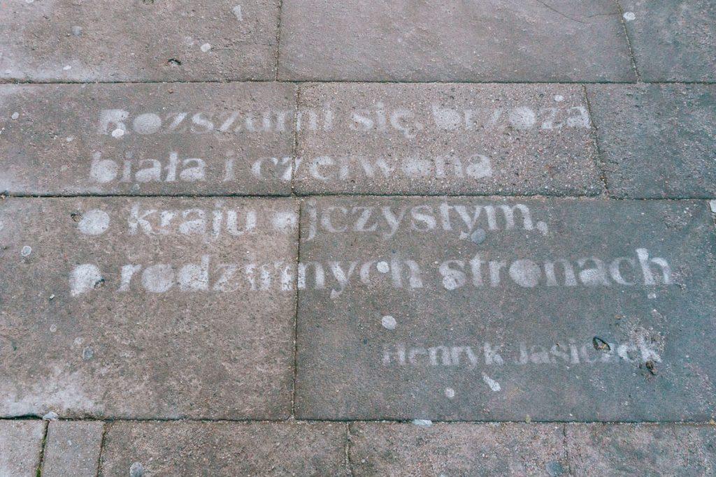 cieszyn wiersz na ulicy