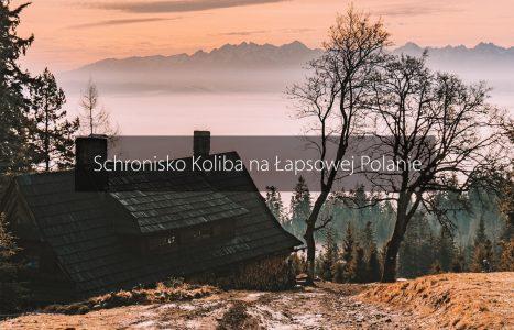Schronisko Koliba na Łapsowej Polanie z Nowego Targu z dzieckiem