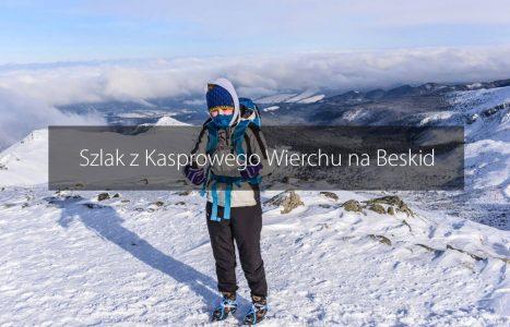 Szlak z Kasprowego Wierchu na Beskid w zimie