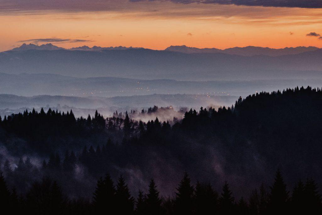 widok na tatry z jodlowej gory