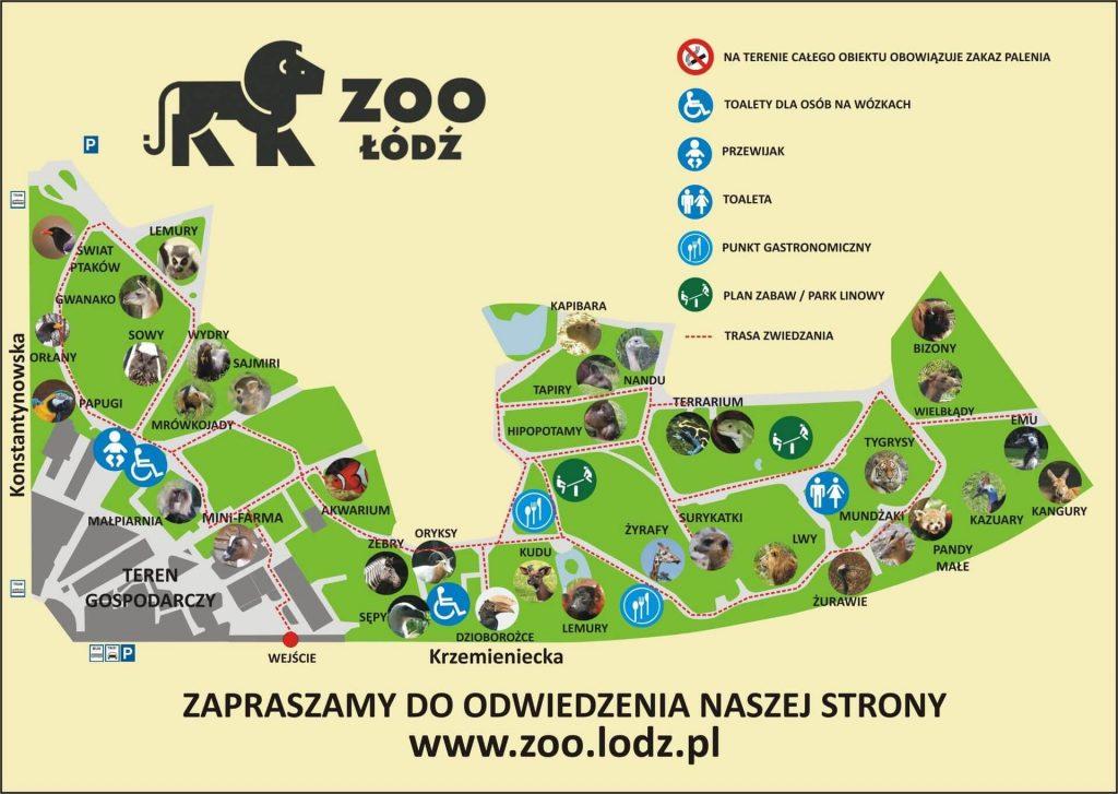 plan mapa zoo w lodzi