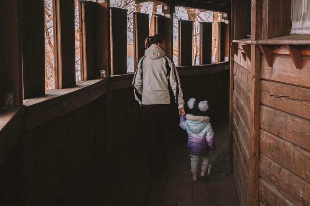 grod w byczynie z dzieckiem