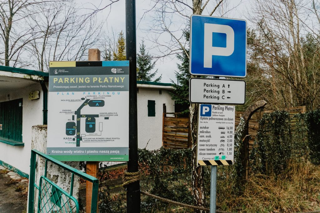 slowinski park narodowy parking