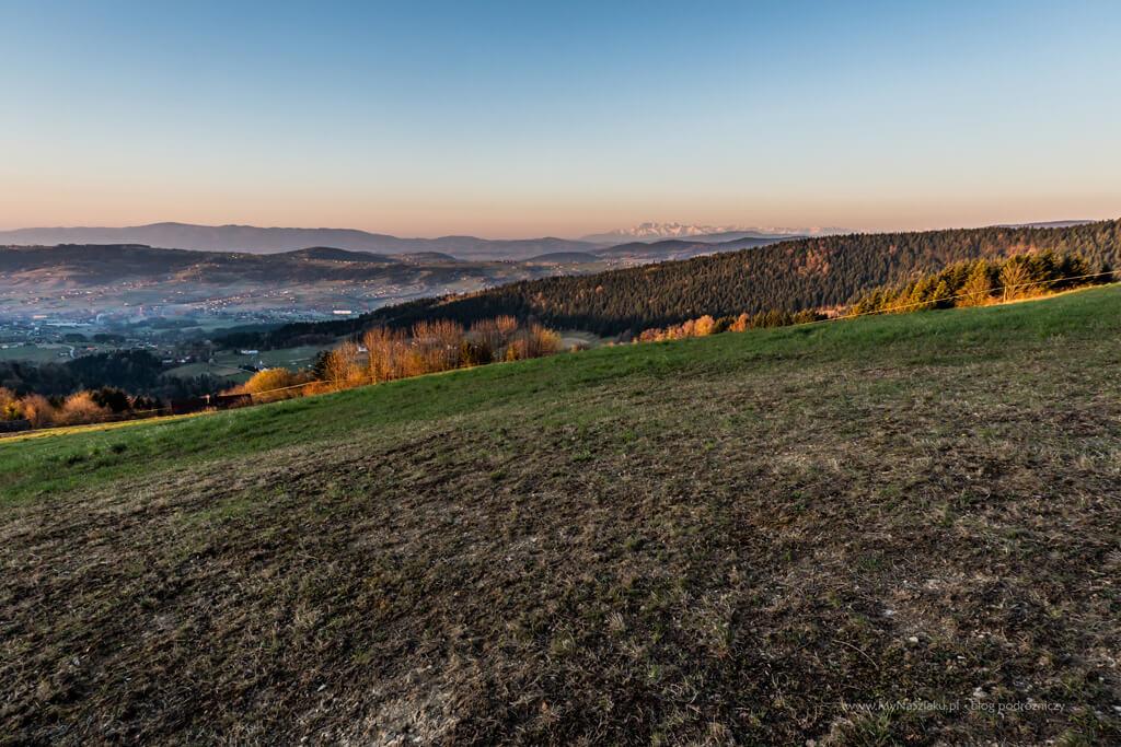 Widok na Tatry pod Jaworzem