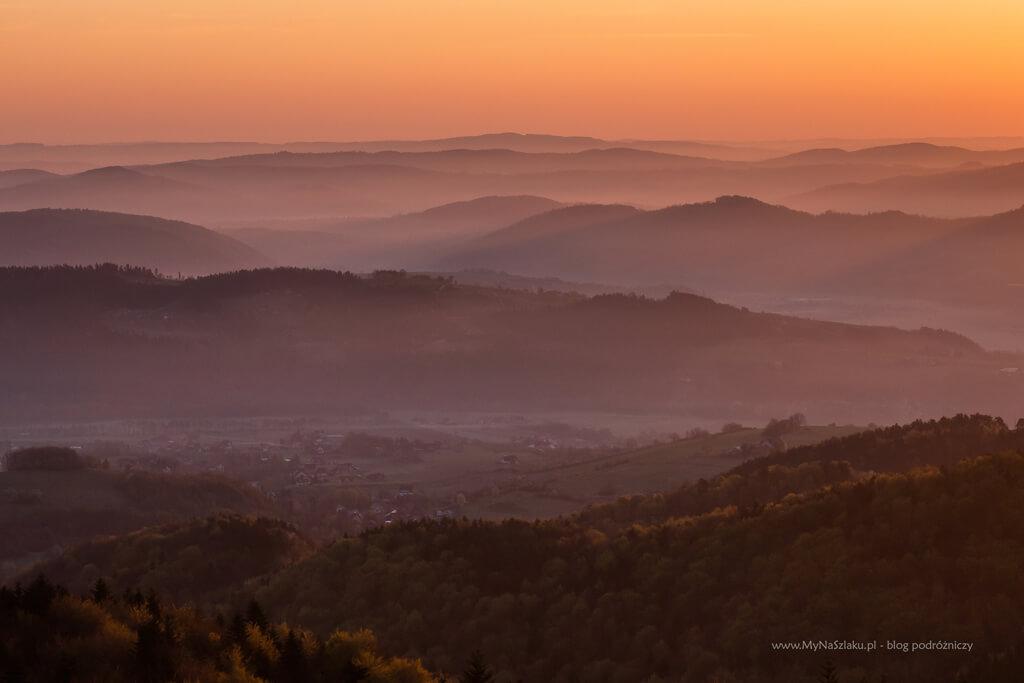 Wschód słońca - Jaworz