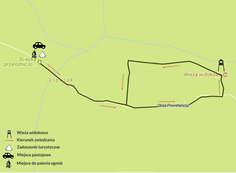 Mapa Obóz Powstańczy