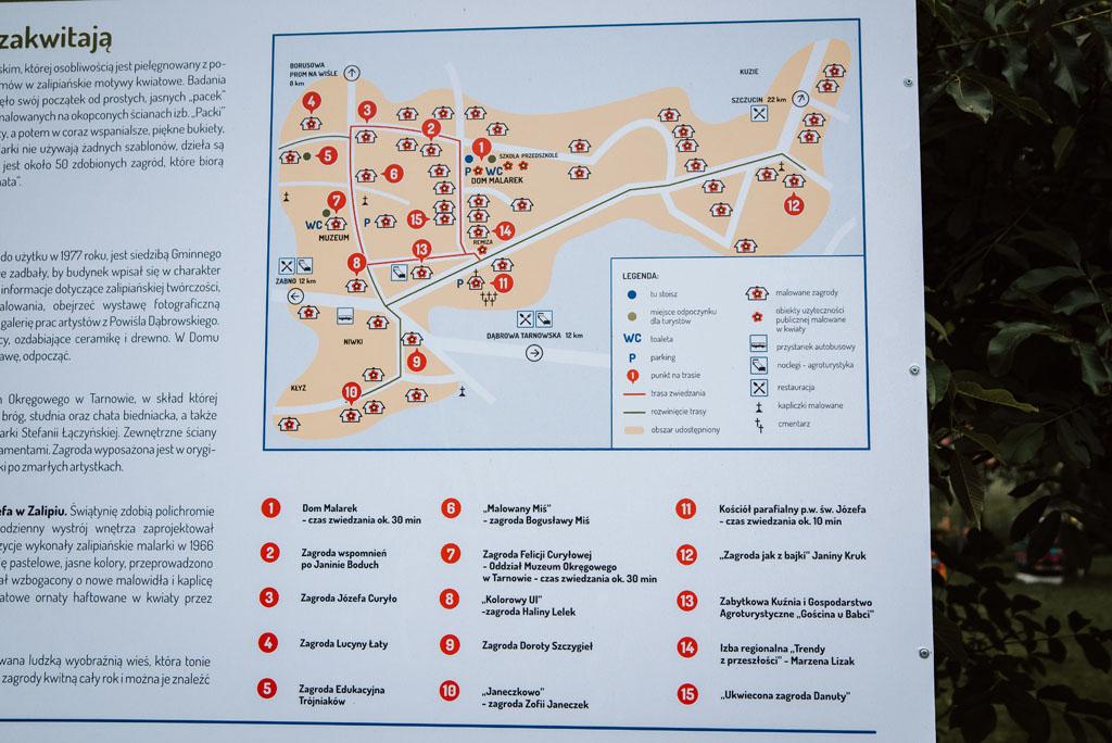 Zalipie mapa