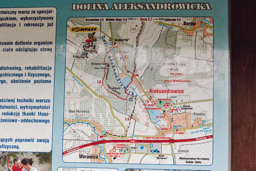 Dolina Aleksandrowicka - mapa