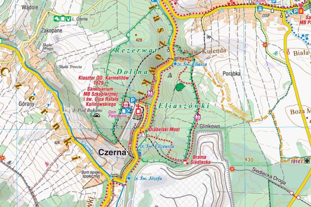 Rezerwat przyrody Dolina Eliaszówki - mapa
