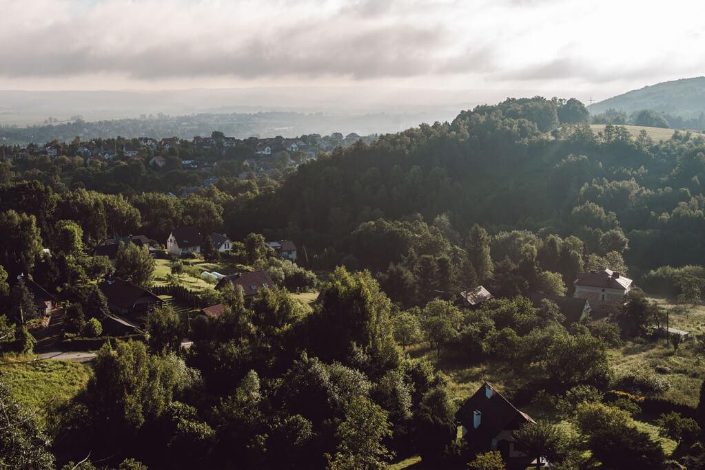 Dolina Nielepicka - widok z Dębowej Góry