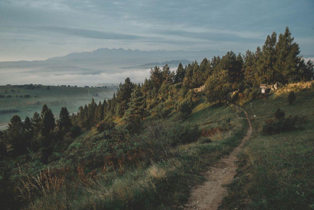Góra Wdżar nad Jeziorem Czorsztyńskim